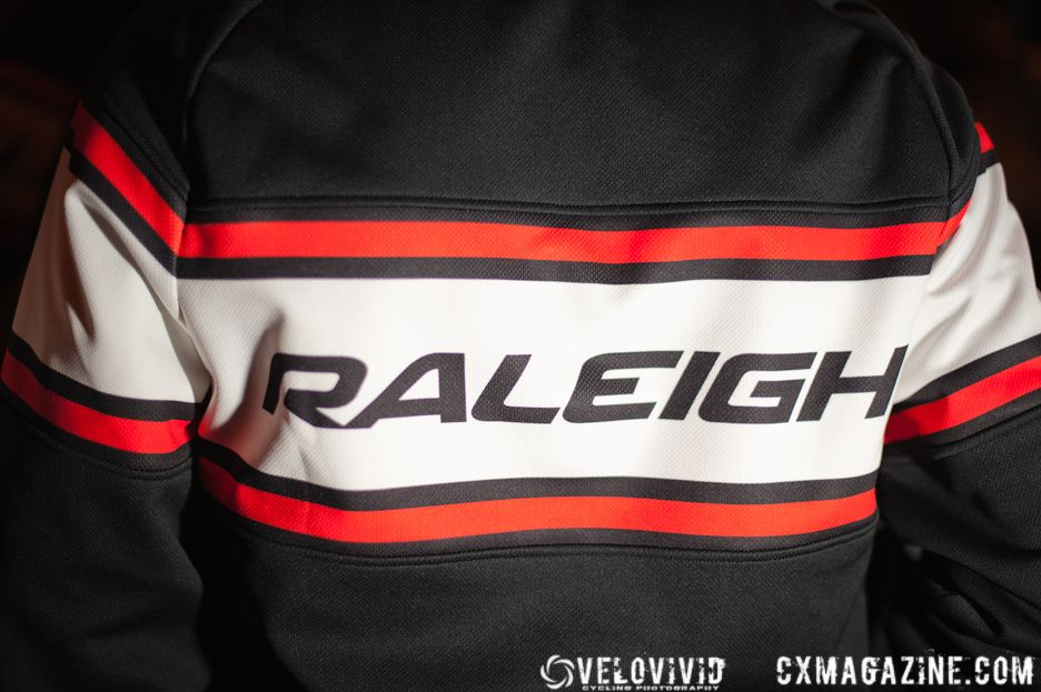 The Team Raleigh jackets created a buzz at a local reception hosted by Bishops Bicycles in Milford, Ohio. © VeloVivid Photography