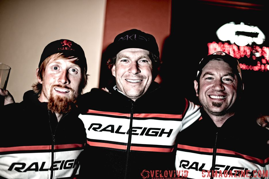 Team Raleigh\'s Craig Etheridge,  Jonny Sundt & Sean Burkey. © VeloVivid Photography