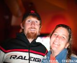 Craig Etheridge (Raleigh) posing with Bishop's Cycling Team member Debbie Baker. © VeloVivid Photography