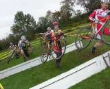 The Cat 3 men on the barriers. by Paul Weiss