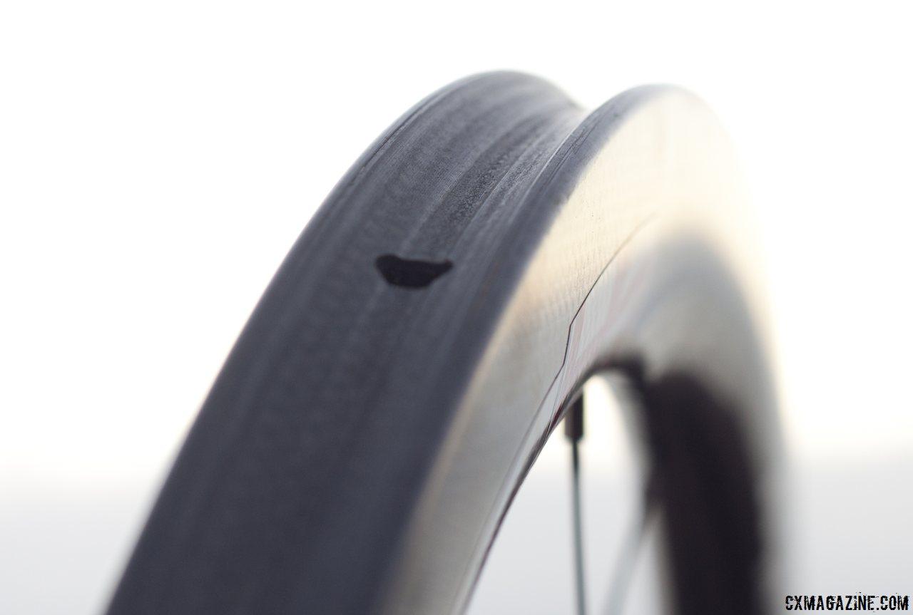 Vision Tech\'s Metron 40 carbon tubular wheels are 24.5 mm wide and 40mm deep. © Cyclocross Magazine