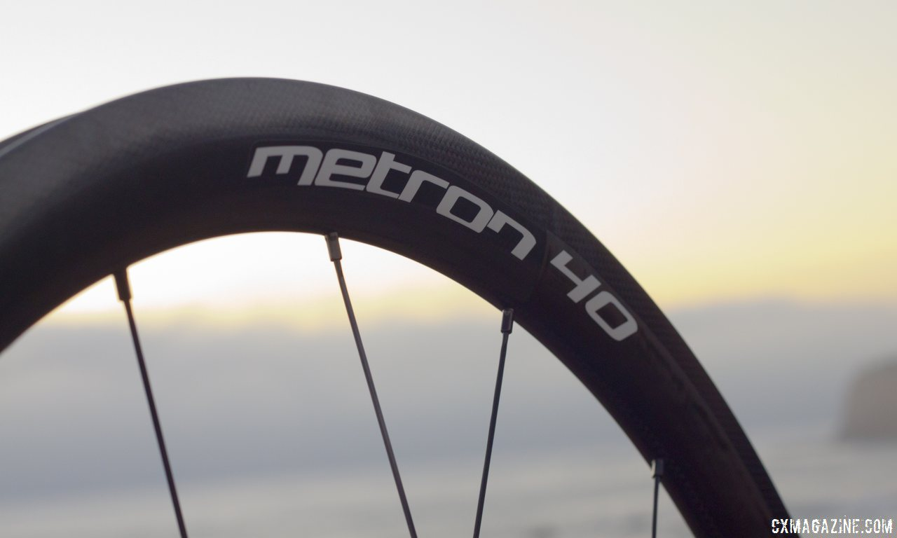Vision Tech\'s Metron 40 carbon tubular wheels are built by hand and put a premium on aerodynamics. © Cyclocross Magazine