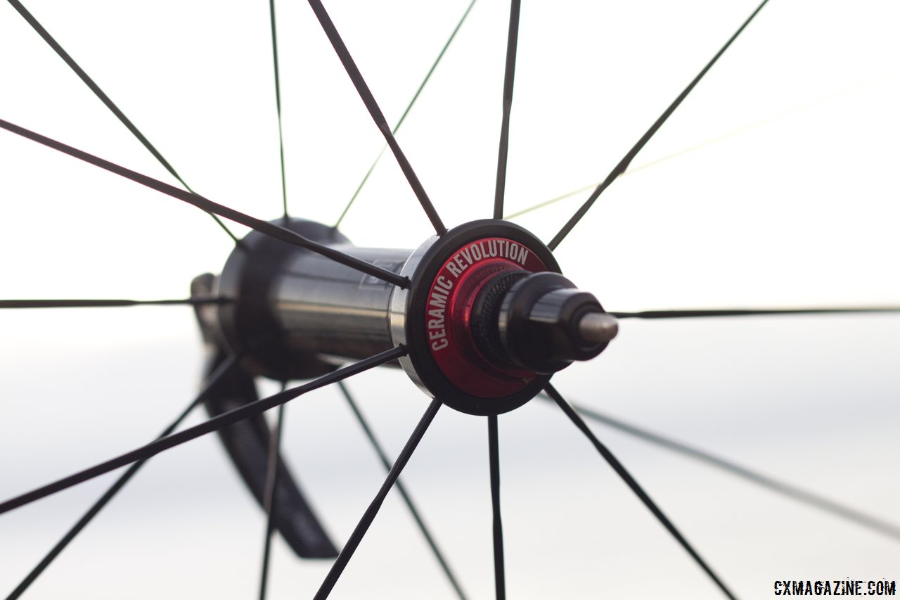 PSA system an ceramic bearings on the rim-brke hubs. © Cyclocross Magazine