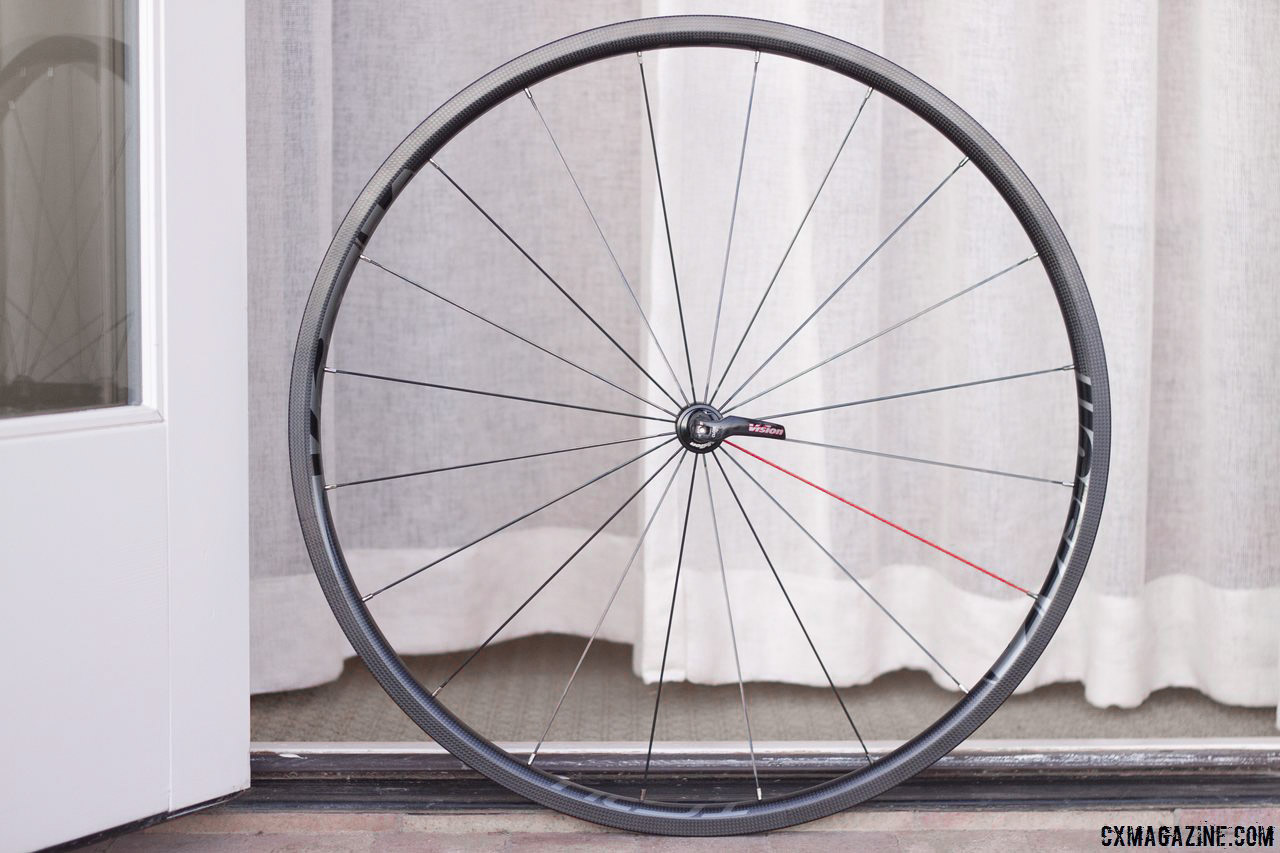 Vision Tech\'s TC24 carbon tubular wheels weigh 1280g per set. © Cyclocross Magazine