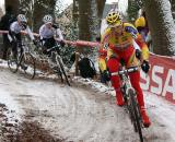 Sven Vanthourenhout had an early lead but crashed hard and left the race. ? Dan Seaton