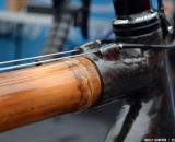 WebbWorks uses Thai sourced bamboo to build their bamboo frames. Southeast Bike Expo 2013 © Cyclocross Magazine