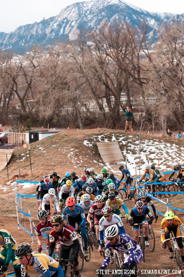 D1 Collegiate Men at the 2014 National Cyclocross Championships. © Steve Anderson
