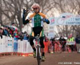 Werner Takes Third D1 Collegiate Men's Win at the 2014 National Cyclocross Championships. © Steve Anderson