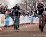 Sprint for third in the D1 Collegiate Men at the 2014 National Cyclocross Championships. © Steve Anderson