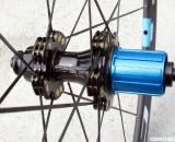 An alloy freehub saves precious grams, while the propietary cylindrical nipples distribute stress over a larger area of the hub.  © Cyclocross Magazine
