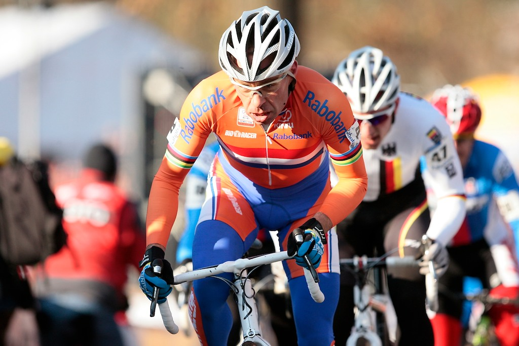 Richard Groenendaal racing in his last World Championship race.  Groenendaal is planning to retire at the end of the season.