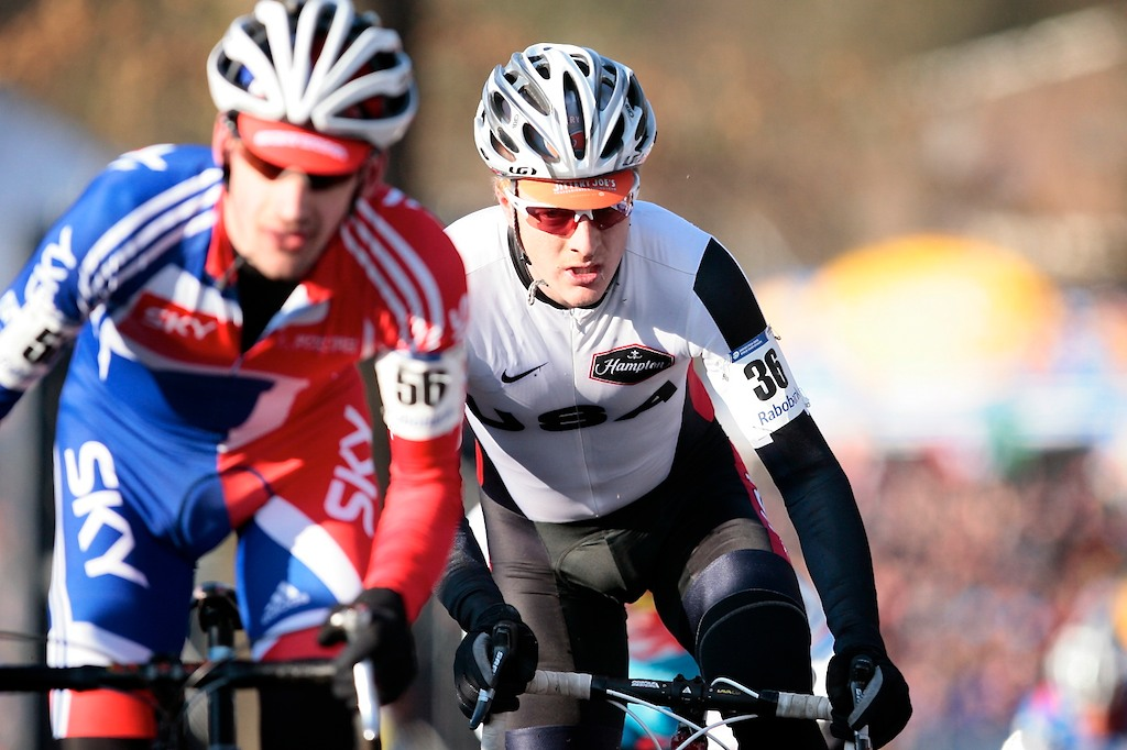 Matt Shriver (USA) riding in his first World Championship Cyclocross race.