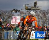 Lars Van der Haar in the second lap at 2014 World Championships. © Pim Nijland