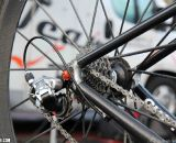 Finishing the mix is a Sram Red rear derailleur. Despite Giant being one of the top carbon manufacturers, the TCX Advanced still has an aluminum drop out. ©Thomas van Bracht