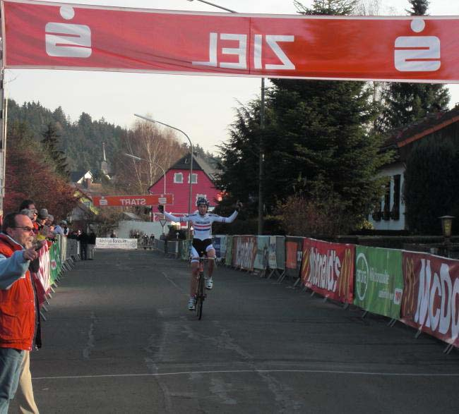 Wyman takes the win at Dohlauer. ? Stefan Wyman