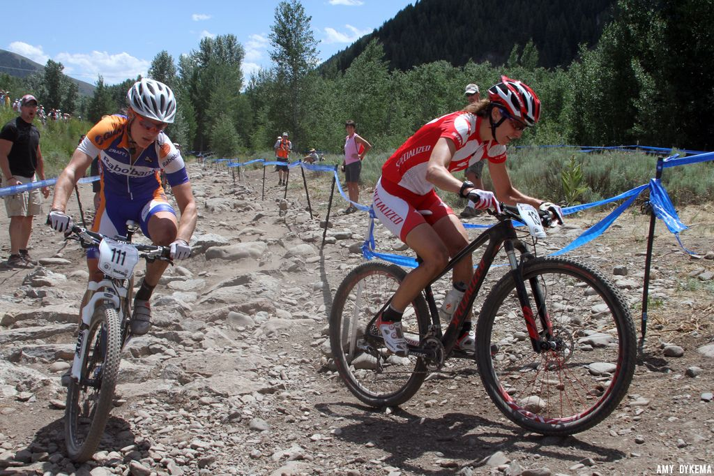 Lea Davison and Katie Compton. ©Amy Dykema