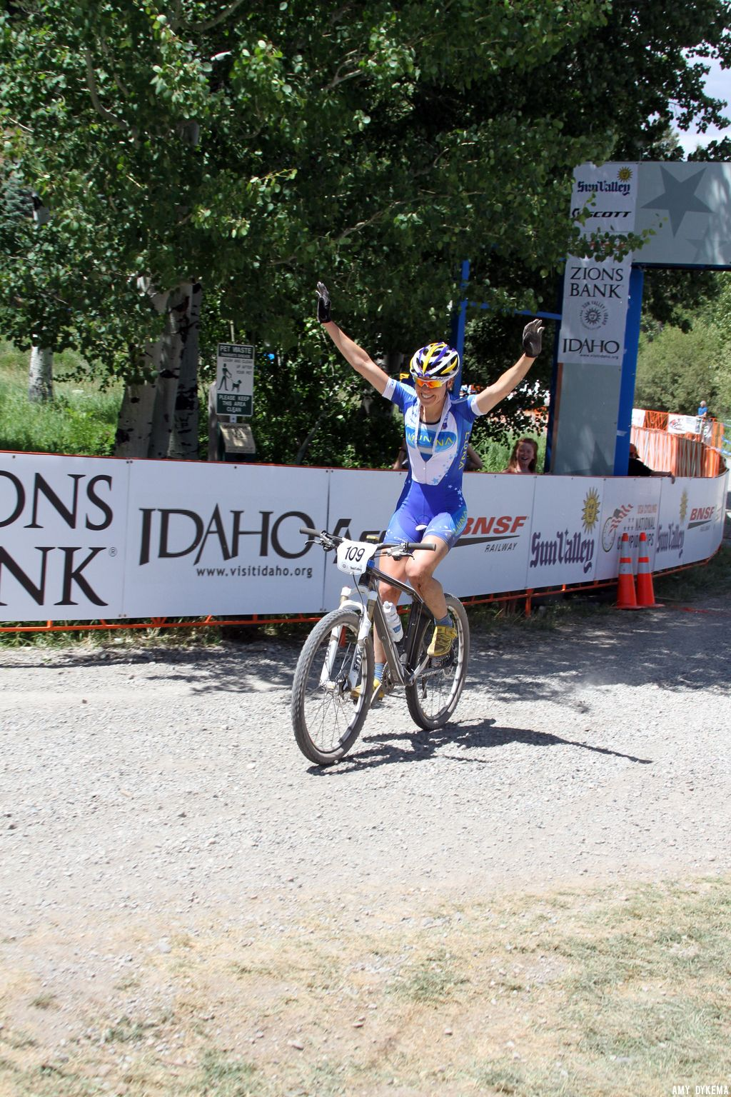 Georgia Gould\'s first place finish. ©Amy Dykema