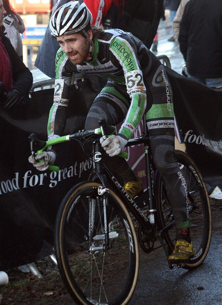 Driscoll crashed but finished 25th. 2009 Zolder Cyclocross World Cup. ? Bart Hazen
