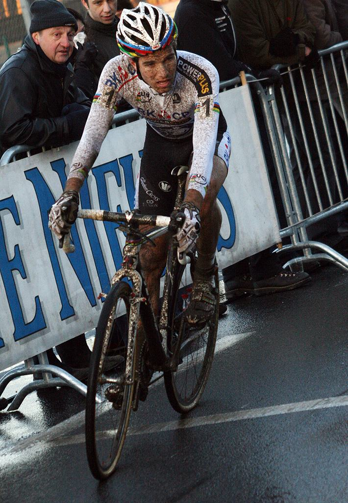 Albert settled for second. 2009 Zolder Cyclocross World Cup. ? Bart Hazen