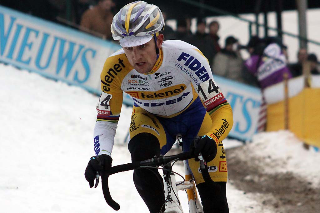 Bart Wellens makes his way back to the podium with third in Zolder. © Bart Hazen