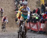 Racers struggled to find good lines in the tough conditions. ? Bart Hazen