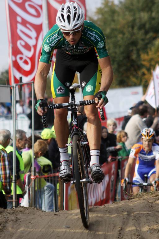 Sven Nys had a strong showing for second place. © Bart Hazen