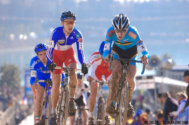 Junior Men, 2008 Cyclocross World Championships, Treviso, Italy. © Joe Sales / Cyclocross Magazine