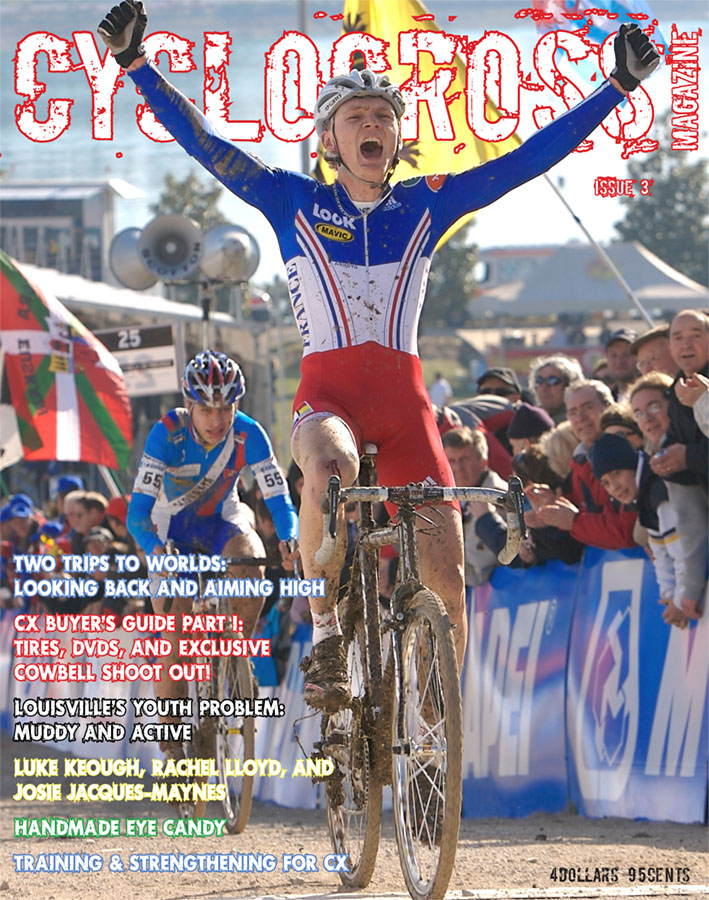 Cyclocross Magazine Issue 3 - Arnaud Jouffroy beats Peter Sagan. photo by Joe Sales