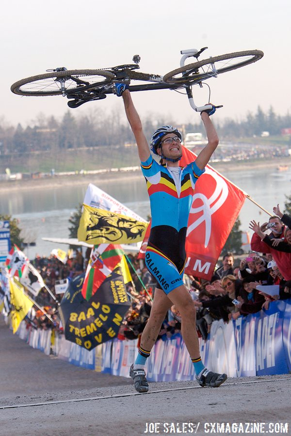 U23 Men, 2008 Cyclocross World Championships, Treviso, Italy won by Niels Albert. © Joe Sales / Cyclocross Magazine