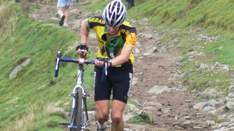 Rob Jebb winning the 2006 Three Peaks Cyclocross Race. by Andy Rushford
