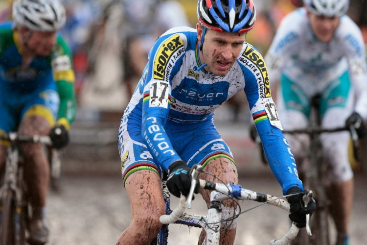 Erwin Vervecken was never from from the front of the race in Roubaix in 2009. © Joe Sales