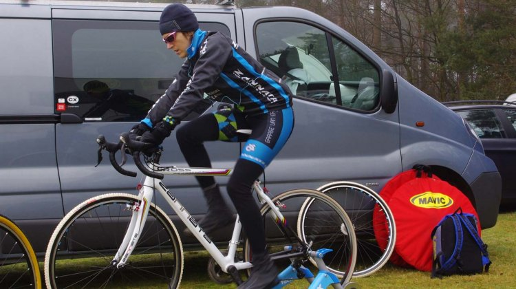 Christine Vardaros preps for Krawatencross © Christine Vardaros