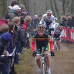 Sven Nys leads here at Krawatencross before spinning with the locals 2 days later © Christine Vardaros