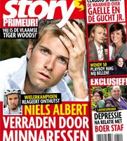 "Story magazine cover, ""Niels Albert the Flemish Tiger Woods"""