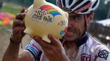 The Hup United Piggy Bank Prize at SpectaCross Cyclocross Race