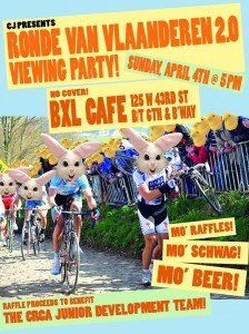 Tour of Flanders party for jonesin' cyclocross lovers to benefit CRCA Juniors