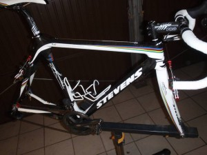 Niels Albert's Stevens carbon cyclocross bike on auction