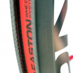 Easton's new EC90SL clincher features an innovative molded hook bead - as opposed to machined carbon found on other carbon clinchers. © Cyclocross Magazine