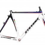 The US National Champion-inspired color scheme of the Stevens Team frame.