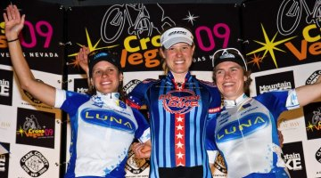 Compton stood on top of the podium at the 2009 edition of CrossVegas. Courtesy Brook Watts.