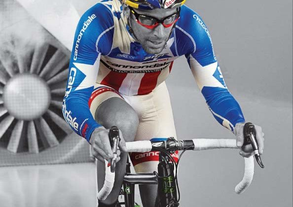 Tim Johnson in the wind tunnel, as seen in the Cannondale SuperX Ad in Cyclocross Magazine