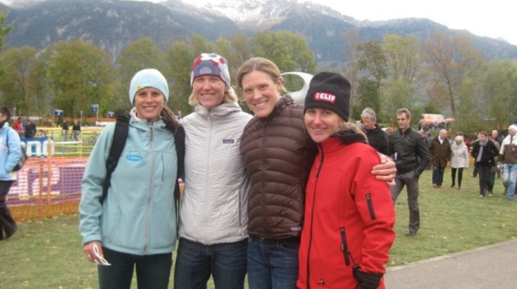 Sue Butler with Katerina Nash, Katie Compton and the late Amy Dombroski