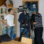 Gabby Day filming with Trans World Sport - courtesy author