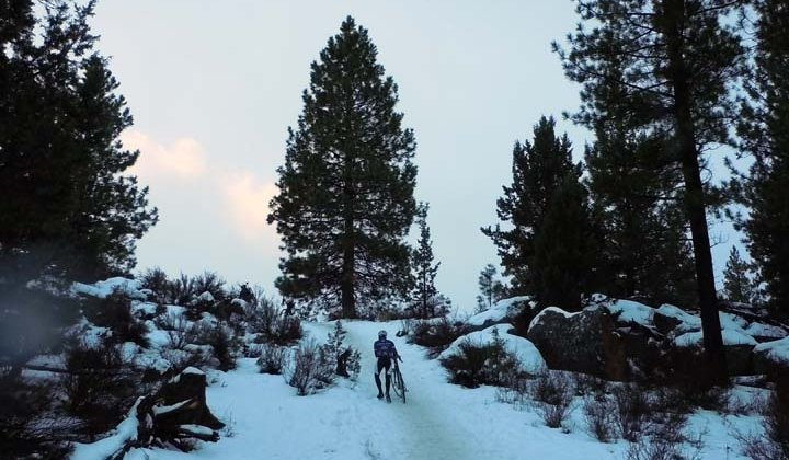 Lots of snow, and some hike-a-bike on the TT course ©CXM