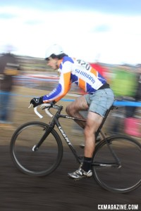 Adam Craig flies to the first ever Singlespeed National Champion title. © Cyclocross Magazine