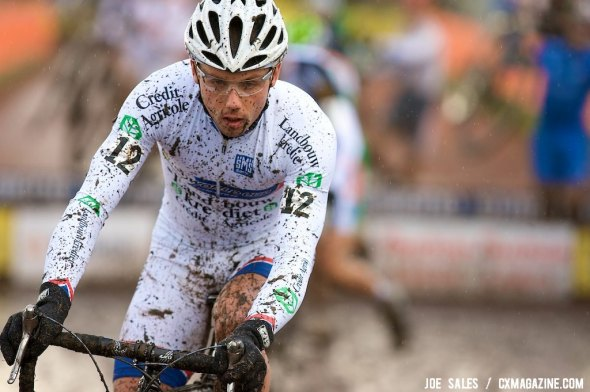 Sven Nys at the Roubaix Cyclocross World Cup in 2009. © Joe Sales