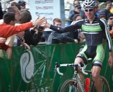 Jeremy Powers celebrates after winning the first Planet Bike Cup USGP in Wisconsin, file photo. © Wil Matthews