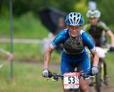 Katerina Nash raced to an impressive third. Will she race cx this fall? Mont Saint Anne MTB World Cup 2009. © Joe Sales