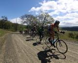 Wicks turns the screws on the dirt road © Pat Malach, Oregon Cycling Action