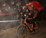 Racing in the dark, big crowds and flowing beer brought smiles. © Janet Hill